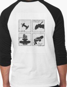 Four Square Logo Men's Baseball ¾ T-Shirt