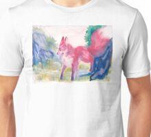 Kitsune On a Mountain Watercolor Unisex T-Shirt