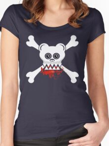 BEAR SKULL AND CROSSBONES Women's Fitted Scoop T-Shirt
