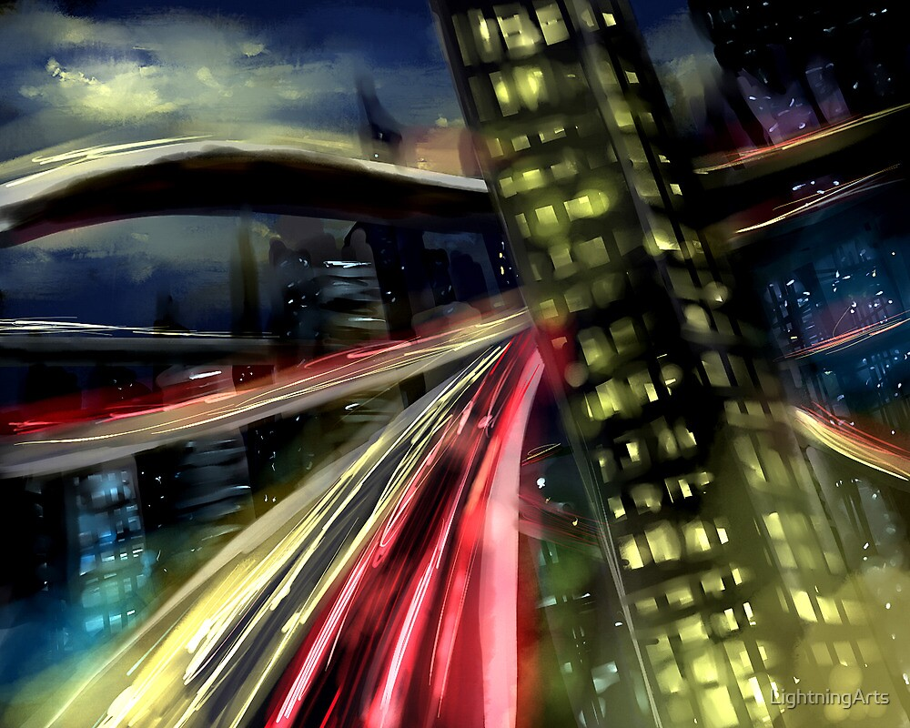 Busy Streets by LightningArts