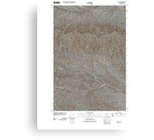 USGS Topo Map Washington State WA Doris 20110502 TM Canvas Print