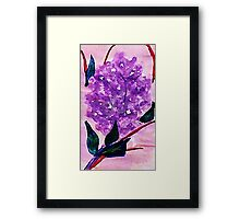 The lilic branch, watercolor Framed Print