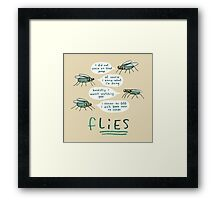 fLIES Framed Print