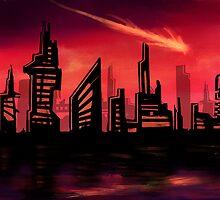 Blazing Skyline by LightningArts