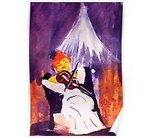 Performer, watercolor Poster
