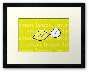 Happy Lemon - two lof bees by Josh Bush