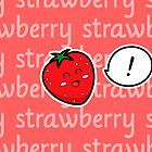 Happy Strawberry - two lof bees by Josh Bush