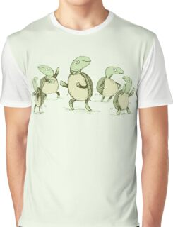 Dancing Turtles Graphic T-Shirt