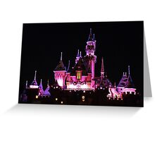 Disney Castle at Night Greeting Card