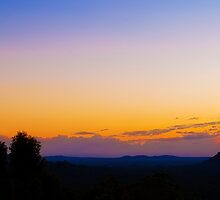 Glasshouse Mountain Dawn by Jaxybelle