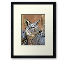 Wolf Statue Framed Print
