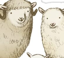 The Sheep Family Sticker