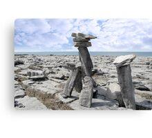 standing boulders in rocky burren landscape Canvas Print