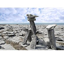 standing boulders in rocky burren landscape Photographic Print