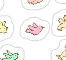 Flying Birdies Sticker