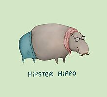 Hipster Hippo by Sophie Corrigan