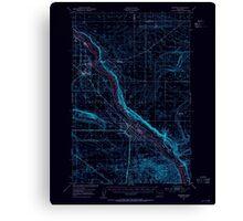 USGS Topo Map Washington State WA Hanford 241469 1951 62500 Inverted Canvas Print