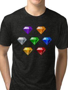 Chaos Emeralds Tri-blend T-Shirt