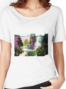 Garden setting in corner at Nursery Women's Relaxed Fit T-Shirt