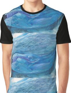 Blue Watercolor Whale Graphic T-Shirt
