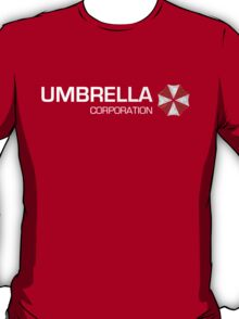 Umbrella Corps - White text T-Shirt