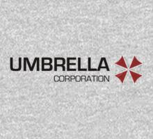 Umbrella Corps - Black text Kids Tee