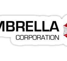 Umbrella Corps - Black text Sticker