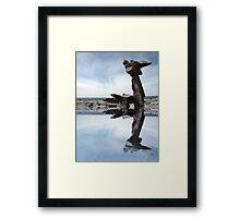 standing stones on the burren Framed Print
