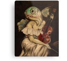 Seated Fish With Violin Metal Print