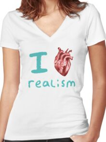 Realism Women's Fitted V-Neck T-Shirt