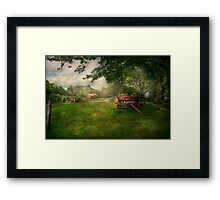 Country - The crops almost ready  Framed Print