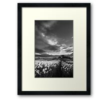 The (Yellow) Album, Track 1 BW Framed Print