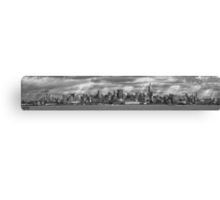 City - Skyline - Hoboken, NJ - The ever changing skyline - BW Canvas Print