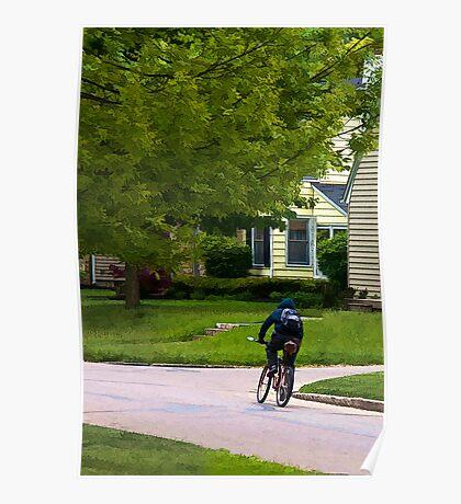 Morning Bike Ride Poster