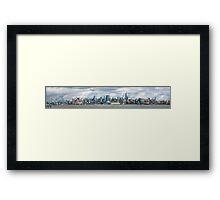 City - Skyline - Hoboken, NJ - The ever changing skyline Framed Print