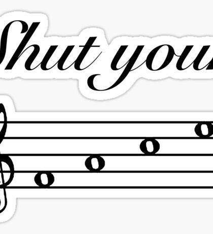 Funny Music Design Sticker