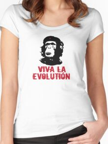 viva la evolution Women's Fitted Scoop T-Shirt