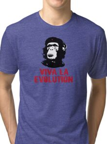 viva la evolution Tri-blend T-Shirt