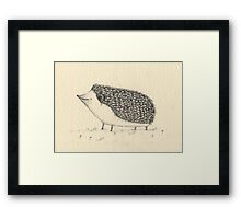 Monochrome Hedgehog Framed Print