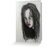 WAVY HAIR Greeting Card