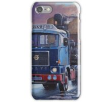 Volvo F88 on round timber. iPhone Case/Skin