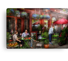 Cafe - Hoboken, NJ - A day out  Canvas Print
