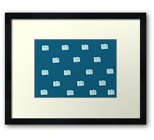 blue camera Framed Print