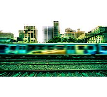 The 16:17 Rush - Melbourne Style Photographic Print