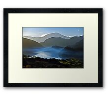 Mystified Vision at sunset Snowdon. Framed Print