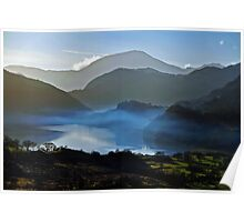 Mystified Vision at sunset Snowdon. Poster