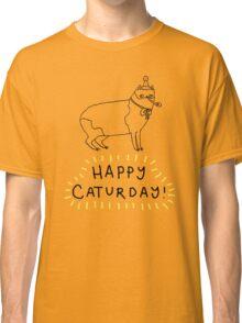 Happy Caturday - Manx Classic T-Shirt