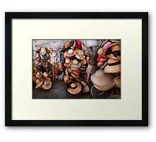 Storefront - The hat stand  Framed Print