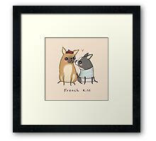 French Kiss Framed Print