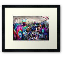 Storefront - Tie Dye is back  Framed Print
